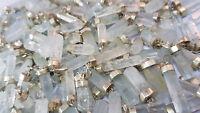 Aquamarin Spitzen - Anhänger handgefertigt- mit Silber -Kristall aus Pakistan
