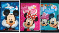 Mickey & Minnie Mouse Travel Suitcase Bags Luggage School Tags Kids Name Labels
