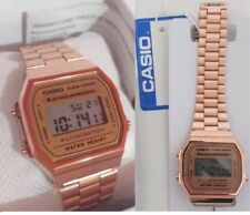 Genuine CASIO Retro Classic Unisex Digital Steel Watch-A168WA-1YES Rose Gold
