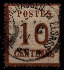 ALSACE 1870 : n°5 Burelage Renversé, Oblitéré = Cote 25 € / Classique France