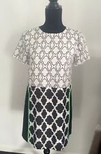 Minty Meets Munt Dress Black & White Print Shift Dress BNWT RRP $149 XS 8