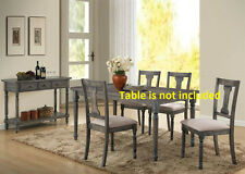 Elegant Simple Contemporary Dining Chairs Dining room Furniture Chair 6pc set