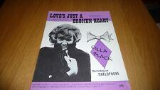 More details for cilla black love's just a broken heart original uk 1965 sheet music