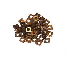 50 Meccano Part 37a Square Nut Brass Original