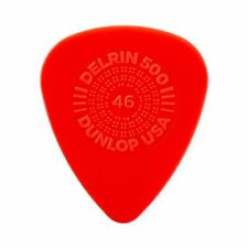 Plectrums 0.46mm Red In A Pick Tin 24 x Dunlop Delrin Prime Grip Guitar Picks