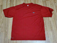 NIKE Men's Size M DRI FIT Training Maroon Red Crew Neck T-Shirt Embroidered