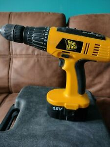 JCB - CD18C cordless 18v hammer drill with 2 batteries and charger plus case