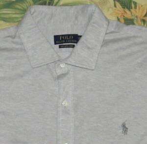 Polo RALPH LAUREN Grey Longsleeve Khit Button Down Shirt XXL
