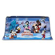Disney Store Mickey's Christmas Carol 6 PC Figure Play Set Cake Topper Figurines