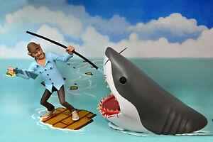 """NECA TOONY TERRORS JAWS QUINT AND SHARK 6"""" FIGURE 2 PACK  ACTION FIGURES"""