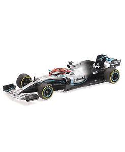 Mercedes F1 W10 Monaco GP Lewis Hamilton 1:18 Minichamps  *DAMAGED IN TRANSIT*