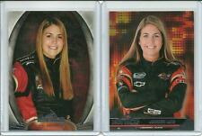 2012 & 2013 Lot /2 Press Pass Ignite Johanna Long Nascar #43 #50
