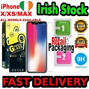 GENUINE Screen Saver Protector Apple iPhone 12 11 X XR XS Max PRO 6 7 8 Plus ALL
