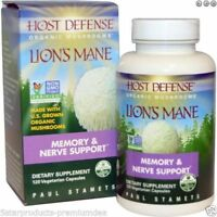 Fungi Perfecti Host Defense Lion's Mane Organic Mushrooms Memory & Nerve 120 Cap