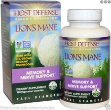 VALUE PACK120 FUNGI PERFECTI HOST DEFENCE LION'S MANE ORGANIC MUSHROOMS MEMORY