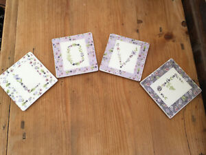 'LOVE' Floral 4 Drinks Coaster Set From Next