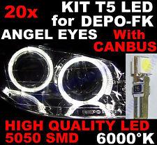 20 AMPOULES T5 a LED BLANC 6000K pour Phares ANGEL EYES DEPO FK VW POLO 9N 9N3