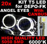20 AMPOULE T5 LED SMD BLANC 6000K puor Phares ANGEL EYES DEPO FK VW POLO 6N 6N2