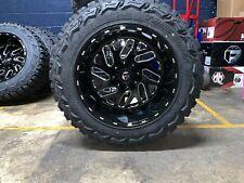 "20x12 Fuel D581 Triton 35"" Mt Wheel and Tire Package 8x6.5 Chevy Silverado"
