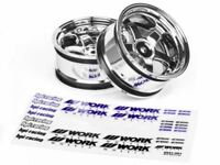HPI Racing - Work Meister S1 Wheel, 26mm-6mm OffSet, Chrome