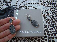 """Up"""" Earrings W3147 $89 Silpada Sterling Silver Druzy """"Glisten"""