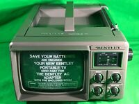 Vintage Bentley Deluxe Portable 5 Inch Black And White Television 100c