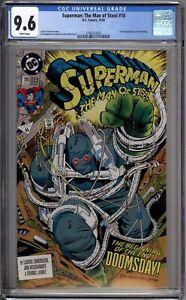 Superman Man of Steel 18 CGC Graded 9.6 NM+ 1st Doomsday DC Comics 1992