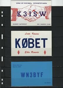 UNITED STATES - SMALL LOT QSL CARDS AMATEUR RADIO