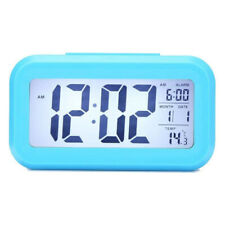 Digital Alarm Clock Backlight Snooze Temperature Battery Operated LCD Display