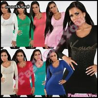 Sexy Women's Jumper Dress Ladies Pullover Long Sweater One Size 6,8,10,12 UK