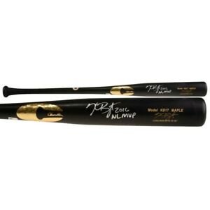"KRIS BRYANT Autographed ""2016 NL MVP"" Chicago Cubs Game Model Bat FANATICS"