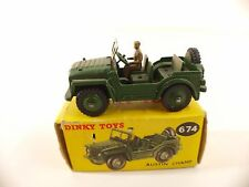 Dinky Toys Gb n° 674 Austin Champ Jeep jamais joué en boîte