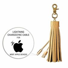 iPhone  Charging Cord with Genuine Leather Tassel and keyring