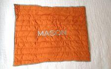 New! Pottery Barn boys Kids Quilted Pillow Sham monogram MASON orange gray