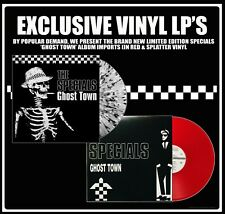 2TONE EXCLUSIVE GHOST TOWN VINYL LP FROM THE SPECIALS RED & SPLATTER DESIGNS