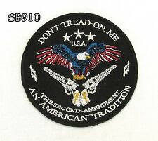 DON'T TREAD ON ME with EAGLE Iron on Small Patch for Biker Vest SB910