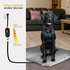 Temperature Adjust Waterproof Pet Electric Heating Pad Dog Chew Resistant Cord