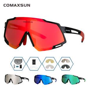 Polarized Glasses 5 Lens Cycling Goggles Outdoor Sunglasses UV Eyewear Men Women