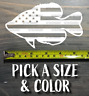 Crappie Sticker Decal Die Cut USA Flag US American Fly Fishing Bass Walleye XO