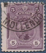 PERU  1909  5 C  Good Used with 'MOLLENDO' Cancel    (B130)