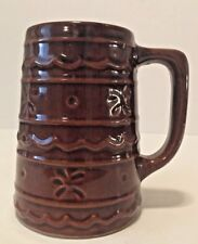 "Vintage Marcrest Brown Stoneware Mug 5.25"" Tall"