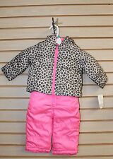 NEW CARTERS GIRLS INFANT 12M 12 MONTH WINTER LEOPARD &...