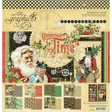 New 2020 Graphic 45 Christmas Time Double-Sided Paper Pad, 12x12, G4502119