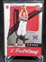 2020-21 Donruss Great X-Pectations Deni Avdija Rookie Washington Wizards RC #9