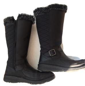 Merrell Tremblant Ezra Tall Waterproof Ice Boot - WOMEN'S BLACK, 6.5