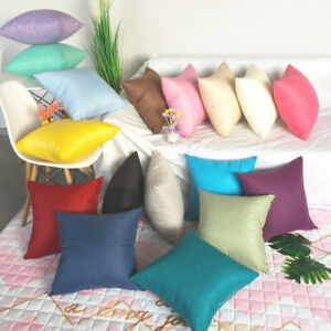 Plain Sofa Throw Cushion Cover Waist Pillow Case Pillowcases Home Bed Sofa Decor