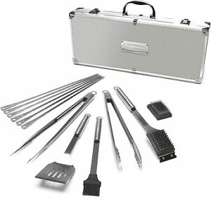 Cuisinart 13 piece Special BBQ Set Solid Stainless Steel SBQ01E Suitcase