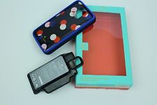 Kate Spade Backup Battery Case for Samsung Galaxy S 5 Navy Red White Dots (7D)