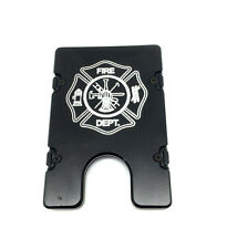 Fire Dept., Aluminum Wallet/Credit Card Holder, RFID Protection, Black
