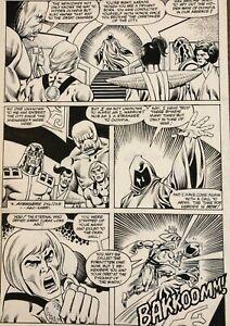 Eternals Original Comic Art; Marvel Issue #9 Pg #14 Sal Buscema Art 1986